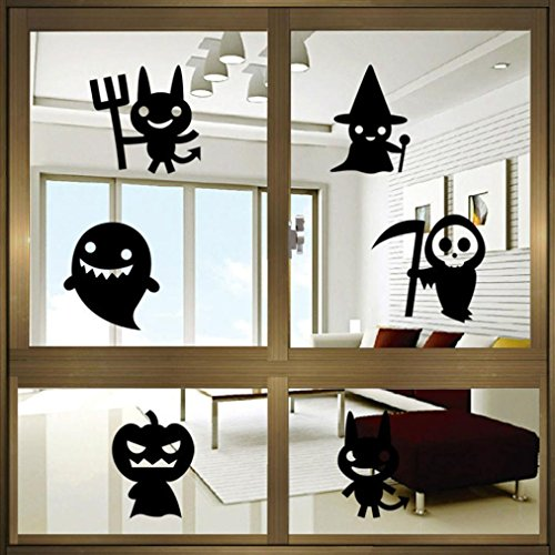 "Price comparison product image LUNIWEI Happy Halloween 23*17"" PVC Self Adhesive DIY Interior Room Creative Decoration Party Decal Wall Sticker"