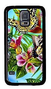 protective Samsung Galaxy S5 case Beautiful Butterfly PC Black Custom Samsung Galaxy S5 Case Cover