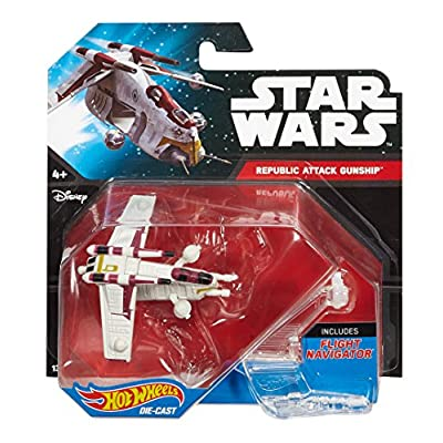Hot Wheels, Star Wars, Republic Attack Gunship Die-Cast Vehicle: Toys & Games