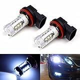 Efaster Unique 2X H11 80W LED Fog Tail Driving Car Head Light Lamp Bulb Super White 6000K
