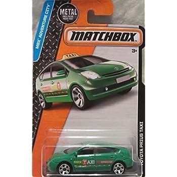 Matchbox 2016 MBX Adventure City Toyota Prius Taxi 9 125 Green
