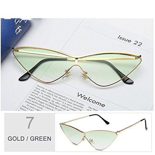 De Cute Gafas De Sol Gafas Ojo Sol Black Para Mujer De La Oro TIANLIANG04 Rossi Pequeñas Rosa Gafas De Gato Green Mujeres De Gold De Lord UT6dpq8