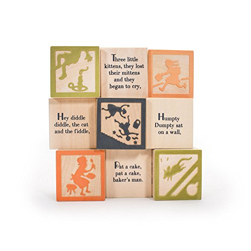 Uncle Goose Nursery Rhyme Blocks - Made in USA ()