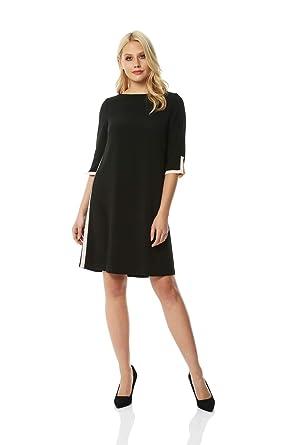 Kleid Lässig Originals Roman Shift Kontrasteffekt Damen Mit rCdxsQth