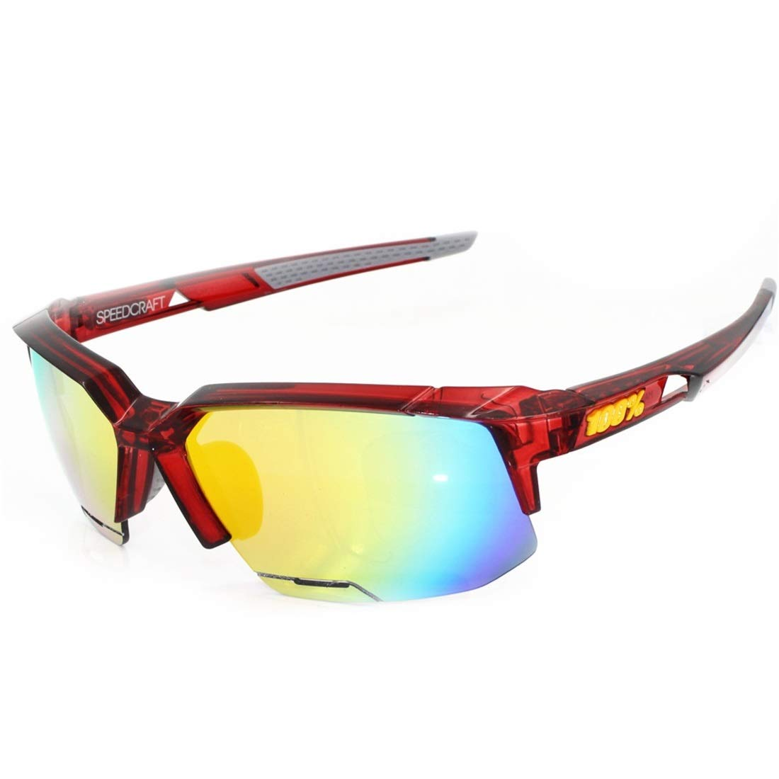 BAOYIT Polarized Sports Running Night Vision Riding Glasses Ultra-Light Frame Riding The Mountain Bike Motorcycle Men and Women Riding (Color : Red) by BAOYIT