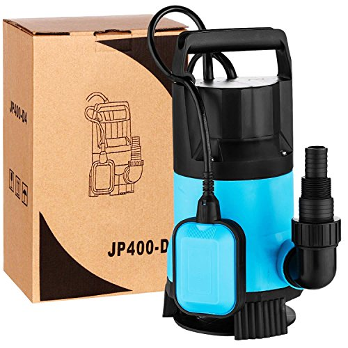 Kaluo 3/4HP 2774GPH 550W Submersible Utility Pump for Pool Pond Heavy Duty Water Transfer with Float Switch (Above Pump Kit Ground Sewage)