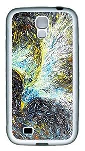 Brian114 Samsung Galaxy S4 Case, S4 Case - Slim Ultra Fit Soft Rubber Case for Samsung Galaxy S4 I9500 Green Light Phoenix Popular Design White Back Cover for Samsung Galaxy S4 I9500