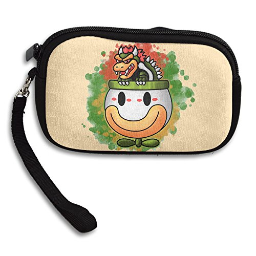 Curcy Bowsers Ride Platform Video Games Boss Cute Coin Purse Bag Change Purse Holder Wallet (Mario Bros Bowser Costume)