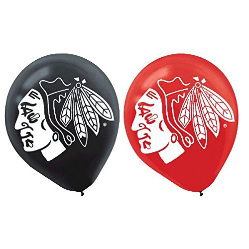 Chicago Blackhawks Collection Printed Latex Balloons, Party Decoration