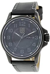 Luminox 1801 BO Field Automatic Black Dial & Leather Strap Men's Watch