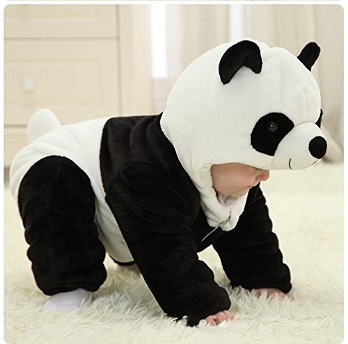Baby Boy Girl Panda Costume Winter Romper Christmas Outwear Bodysuit (12-18 Months) - Buy Online