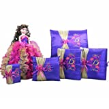 Quinceanera Sweet 15 Mis Quince Doll Photo Album Guest Book Pillow Bible Set Q1009 (Add Arch to Doll + Spanish Bible)