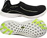 NORTY Womens Breathable Mesh Slip-On Water Shoe, Black, Lime 39692-9B(M) US
