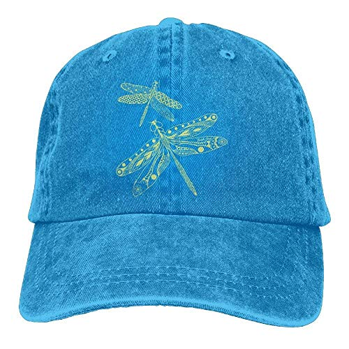 - Yuan Kun Dragonfly Denim Hat Adjustable Women's Low Baseball Caps