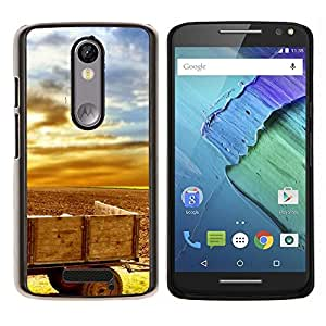 "For Motorola Droid Turbo 2 / Moto X Force , S-type Planta Naturaleza Forrest Flor 33"" - Arte & diseño plástico duro Fundas Cover Cubre Hard Case Cover"