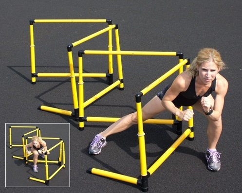 Prism Fitness Group Adjustable SMART Hurdles - 21'' to 36'' - Set of 3 by Ironcompany.com (Image #2)