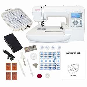 Janome Memory Craft 200E Embroidery Machine Bundle