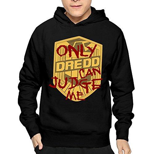Cool Gear Can Halloween (Mens Only Dredd Can Judge Me DesignHoodies Sweatshirts)