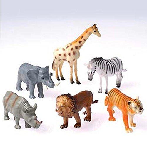 (U.S. Toy 6 Plastic Toy Safari Animals Toy)