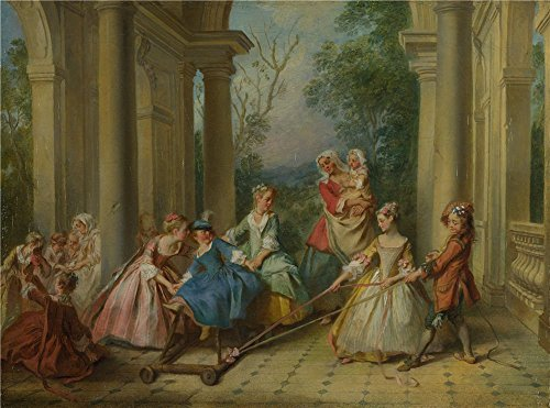 Perfect Effect Canvas ,the Replica Art DecorativePrints On Canvas Of Oil Painting 'Nicolas Lancret The Four Ages Of Man Childhood ', 30 X 40 Inch / 76 X 103 Cm Is Best For Basement Artwork And Home Artwork And Gifts