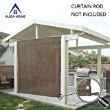 Alion Home Rod Pocket Sun Shade Panel with 3 Sides Eyelets for Patio, Awning, Window Cover, Instant Canopy Side Wall, Pergola Or RV (10' x 6', Mocha Brown)