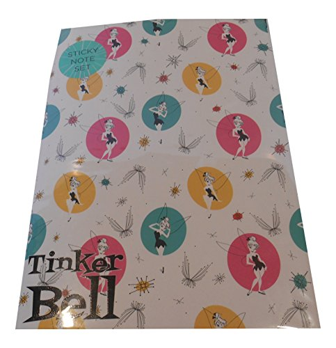 Sticky Notepad Set - Includes Different Sizes and Colours (Tinkerbell Self Stick)