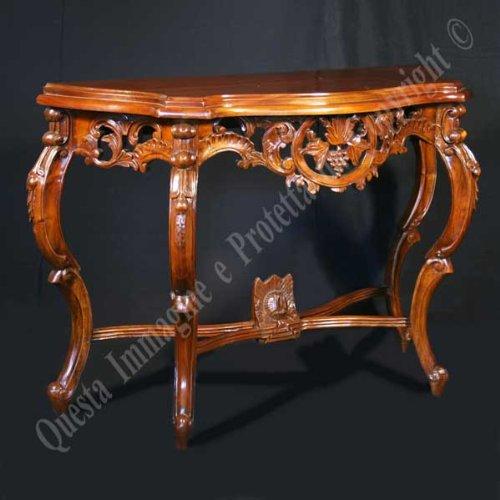 Konsole, Couchtisch cm 115x45 h 77 - Holz, Klassisch, Italienischer Produktion