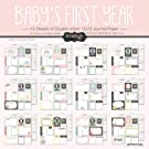 Scrapbook Customs Baby Girl First Months Scrapbooking Kit