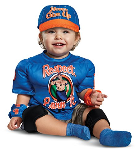 Disguise John Cena Infant Muscle Child Costume, Blue, (12-18 Months)