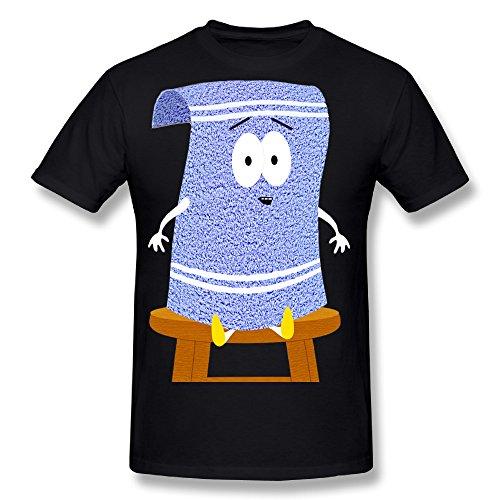 Flesiciate1 Men Sitting Cool Towelie South Park Design Size L T Shirt (South Park Towelie)