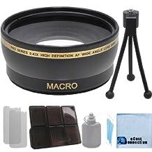 Pro Series 52mm 0.43x Wide Angle Lens with Deluxe Lens Accessories Kit for Nikon D5500 D810 D750 D3000 D3100 D3200 D5000 D5100 D5200 D5500 D7000 D7100 D7200 D600 D610 D700 D800 D90 DSLR