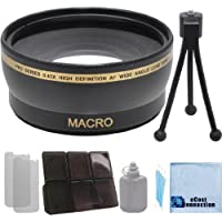 Pro Series 58mm 0.43x Wide Angle Lens with Deluxe Lens Accessories Kit for all Canon / Nikon / Pentax Cameras & Camcorders with 52MM Lens thread