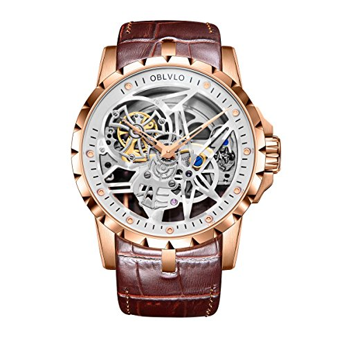 Mens Army Militray Watches Skeleton Dial Rose Gold Autoamtic Watches RM-1 (RM-1RSSW)