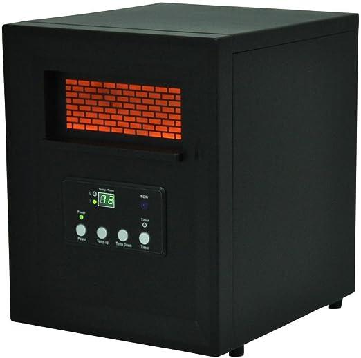 Amazon Com Lifepro 4 Element Room Infrared Heater Black Medium Home Kitchen