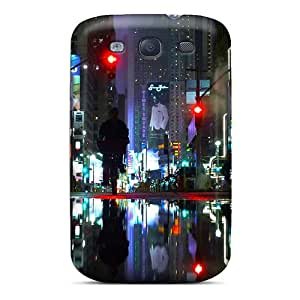 Premium New York City Streets Back Cover Snap On Case For Galaxy S3
