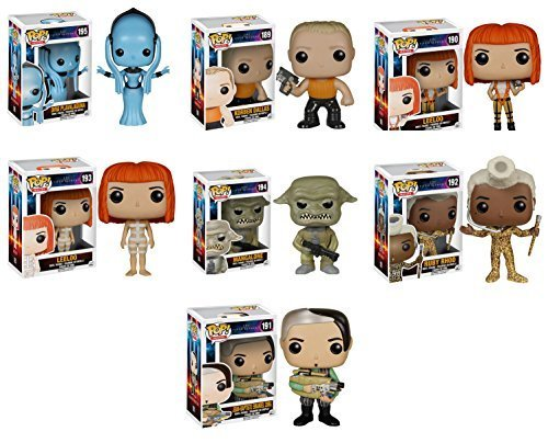 Funko The Fifth Element Leeloo, Ruby Rhod, Diva Plavalaguna, Korben Dallas, Straps Leeloo, Zorg and Mangalore POP! Vinyl Figures Set of 7
