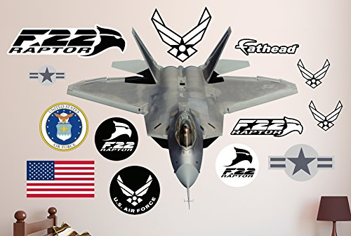 Fathead F-22 Raptor Real Decals by FATHEAD