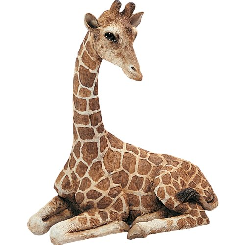 (Sandicast Original Size Giraffe Sculpture, Lying)