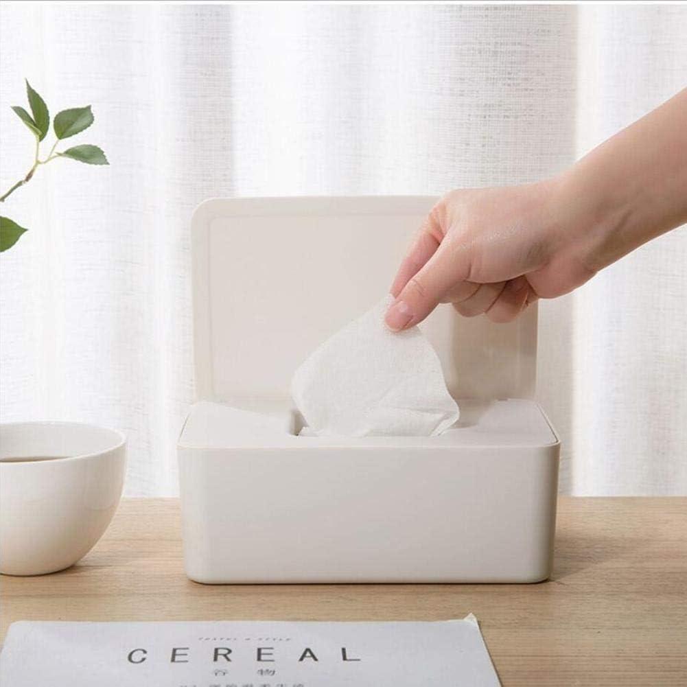Cherishly 1pcs Titular de dispensador de toallitas húmedas, Caja de Almacenamiento de Tejidos con Tapa para Oficina en casa Famous