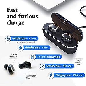 BKA Sound Master Wireless Earbuds Bluetooth - True Wireless Earbuds - Headphones Earbuds - HiFi Stereo 4.2 Bluetooth Wireless Earphones - in Ear Bluetooth Earbuds Microphone - Black from BKA Sound Master