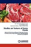 Studies on Texture of Some Foods, Wael Abdel-Rafee Mahmoud Saleh and Ashraf Mahdy Sharoba, 3659185957