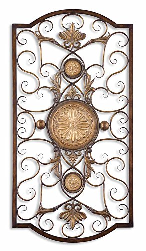 Uttermost Micayla Large Metal Wall Art in Distressed Chestnut - Metal Chestnut Wall