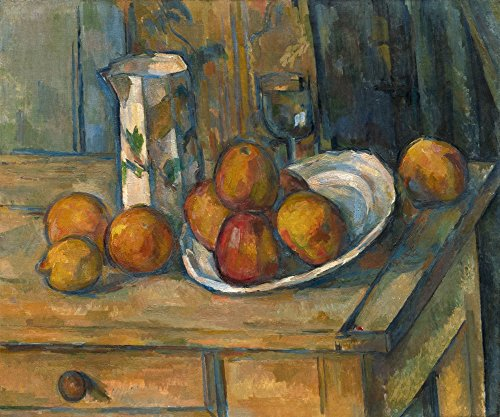 Posterazzi Still Life with Milk Jug and Fruit Poster Print, (24 x 18)