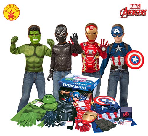 Toy Costumes Ideas (Imagine by Rubie's Marvel Avengers Play Trunk with Iron Man, Captain America, Hulk, Black Panther Costumes/Role Play Amazon)