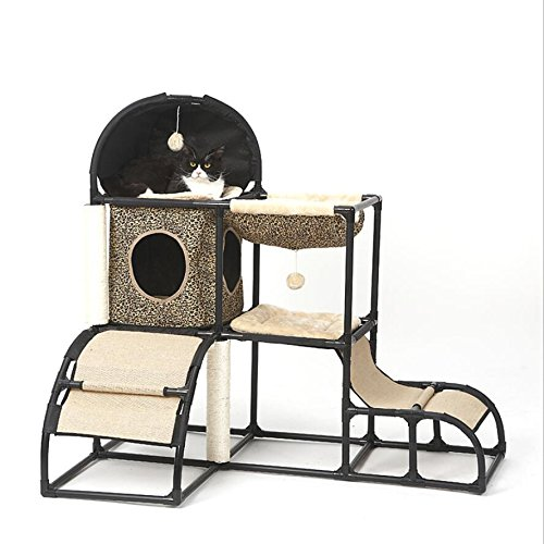 A Cat Climbing Frame Cat Jumping Platform Luxury Multi-Function Detachable Combination Cat Supplies Pet Supplies,A
