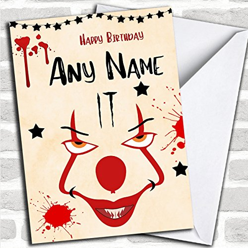 Price comparison product image It Pennywise Clown Personalized Birthday Card
