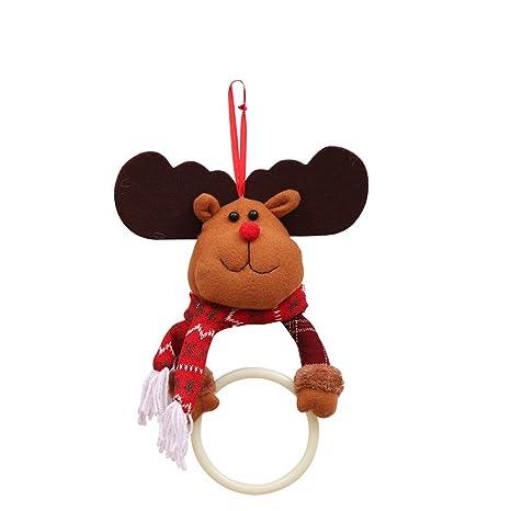 lujiaoshout Preciosa Decoraciones de Navidad Servilleta de Navidad Toalla de Toallas Colgantes Anillo para Cocina Baño