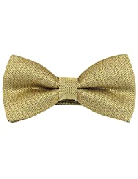 Panegy Mens Adjustable Pre-Tied Jacquard Formal Tuxedo Polyester Neck Bowtie Gold