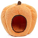 PAWZ Road Halloween Cozy Cat Bed, Puppy Hut Kitty Cave Pumpkin-Shaped Kennel, Non-Slip and Durable for Cats and Small Dogs