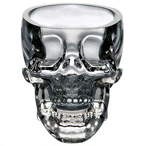 KODZY Global Crystal Skull Whiskey Glass Cup Drinking Ware Bar -